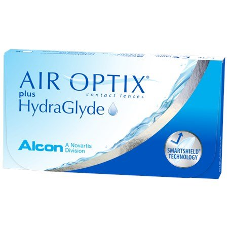 AIR OPTIX plus HydraGlyde contacts