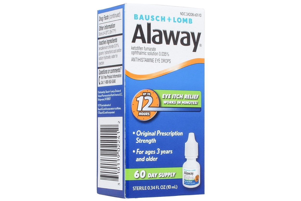 Bausch and Lomb Alaway 60 Day Supply Eye Itch Relief Drops and Treatment (.34 fl oz) DryRedEyeTreatments