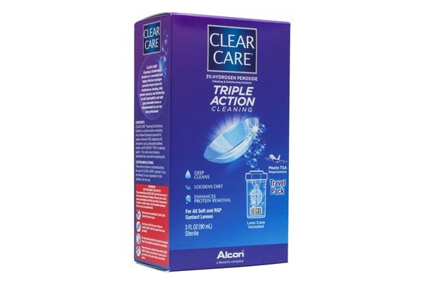 Clear Care Cleaning & Disinfecting Contact Lens Solution 3floz SolutionsCleaners
