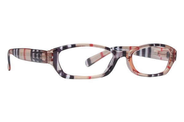 Peepers Chesterfield Stripe Designer Reading Glasses ReadingGlasses - Brown