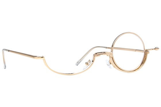 Amcon Metallic Makeup Glasses ReadingGlasses - Gold