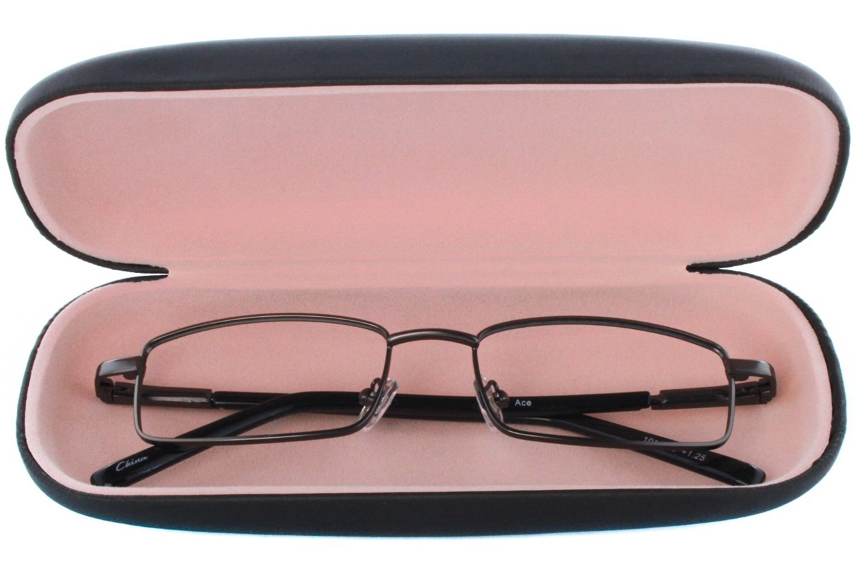 Alternate Image 1 - Amcon Protective Clam Eyeglasses Case Black GlassesCases - Black