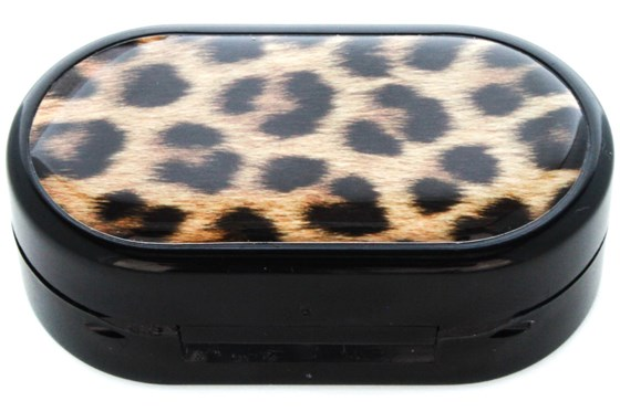 Amcon Leopard Designer Contact Lens Case Cases