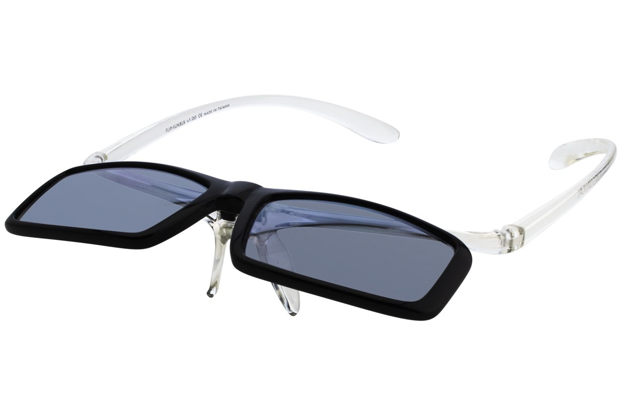 Alternate Image 2 - I Heart Eyewear Flip-Up Reading Sunglasses ReadingGlasses - Black