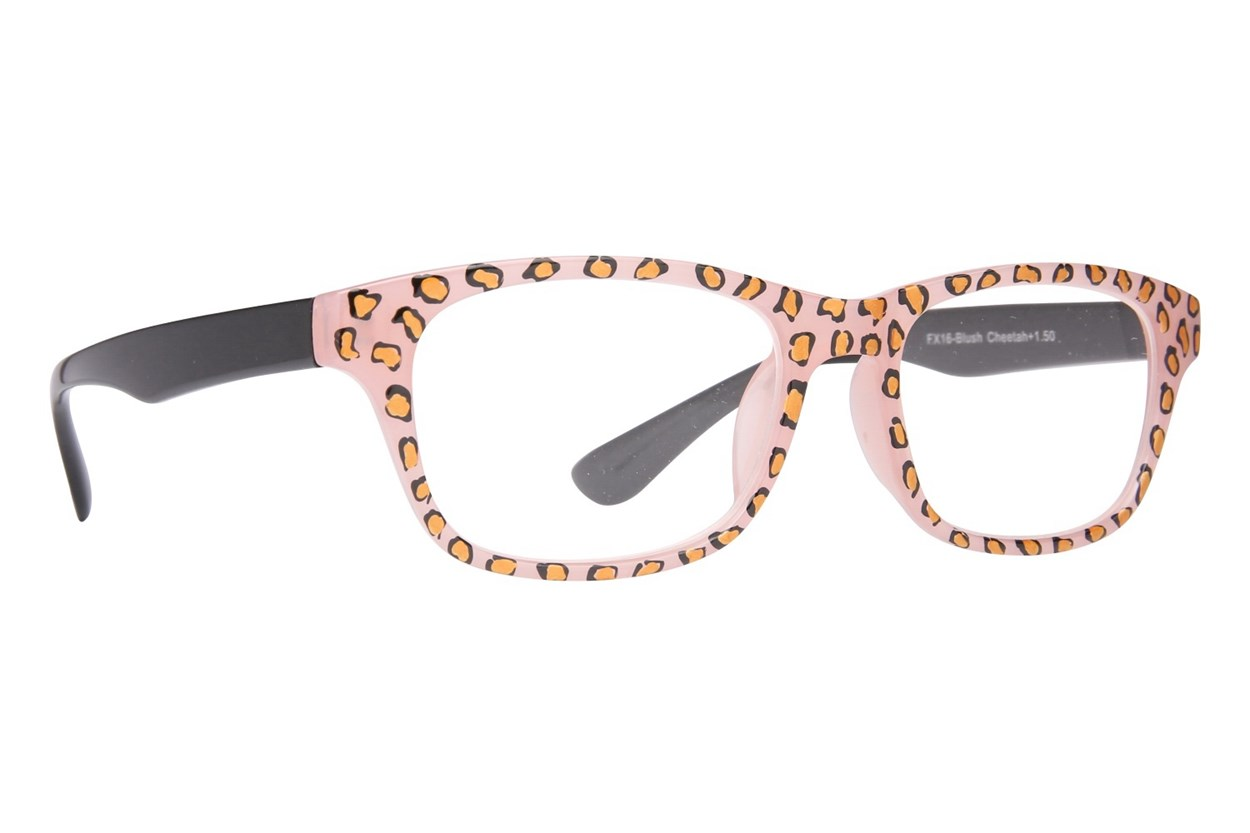 Evolutioneyes Handpainted Blush Cheetah Reading Glasses ReadingGlasses - Tan