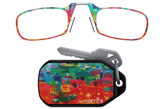 ThinOPTICS Keychain Case & Readers - Design ReadingGlasses - Multi