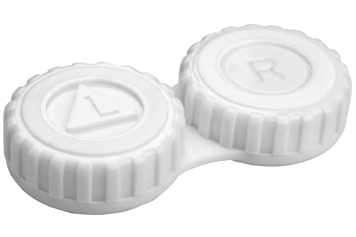 General Screw-Top Contact Lens Case Cases - White