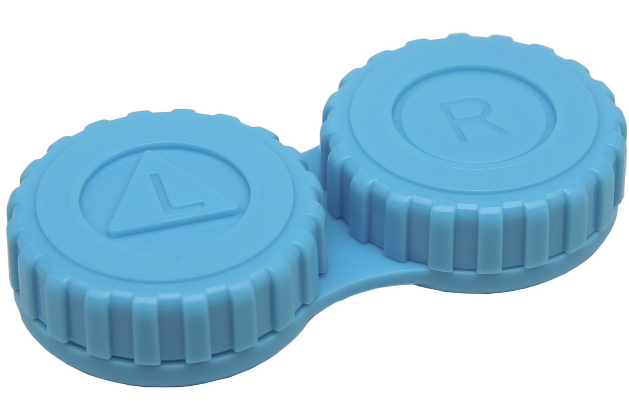 General Screw-Top Contact Lens Case Cases - Blue