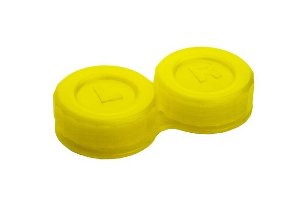 General Boilable Screw-Top Contact Lens Case Cases - Yellow